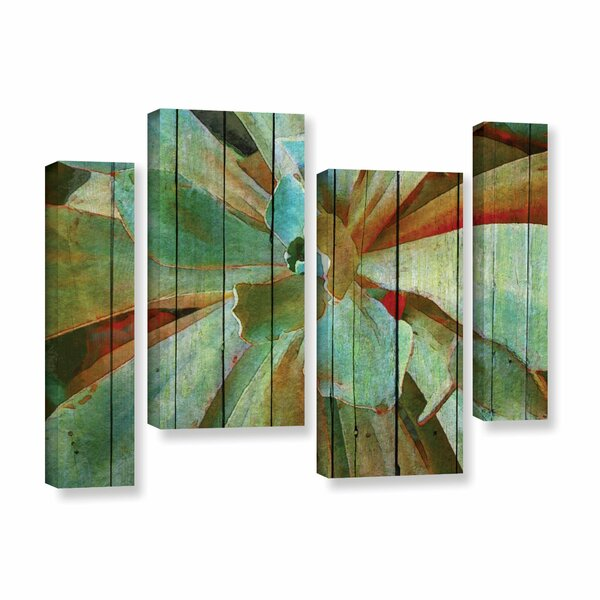 Summer Succulent 4 Piece Painting Print on Wrapped Canvas Set by Bay Isle Home