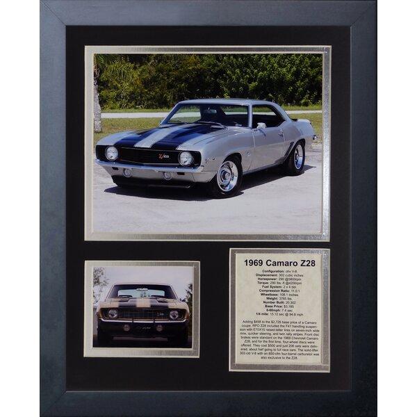 1969 Chevy Camaro Z28 Framed Memorabilia by Legends Never Die