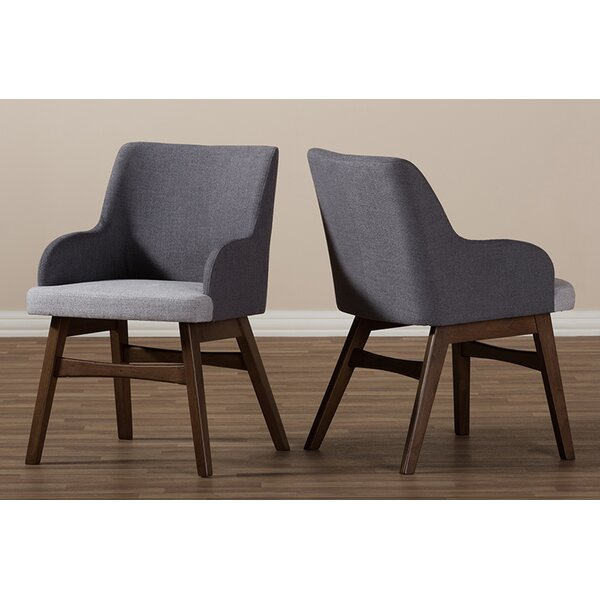 Paulette Two-Tone Upholstered Dining Chair (Set of 2) by Brayden Studio