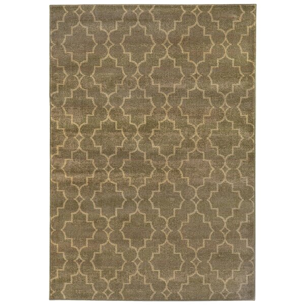 Dewolf Grey/Beige Area Rug by Charlton Home