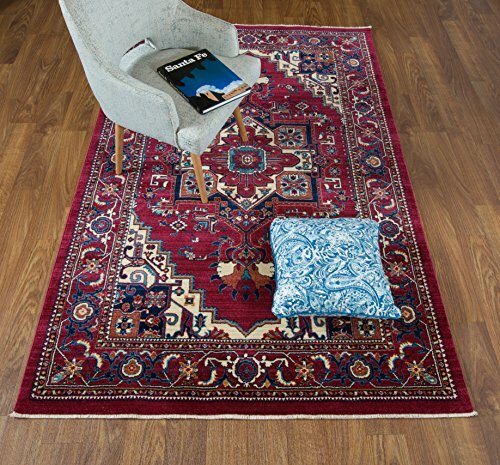 Ridgeway Red/Ivory Area Rug by Astoria Grand