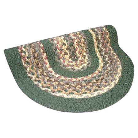 Minuteman Sage Green Solids with Mauve Accents Multi Round Rug by Thorndike Mills