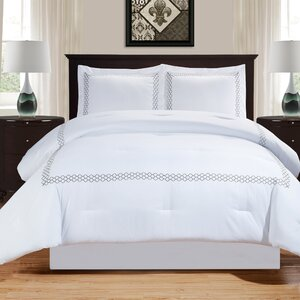 Driffield Down Alternative Trellis Comforter Set