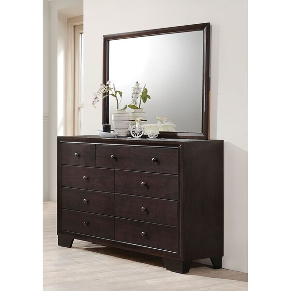 Mame 9 Drawer Double Dresser with Mirror by Latitude Run