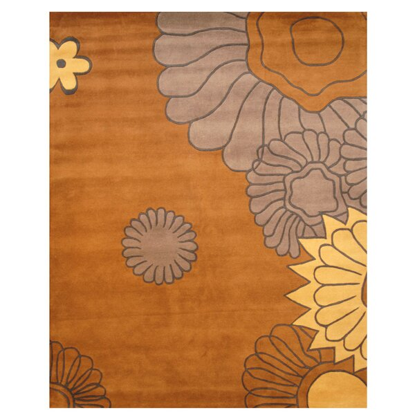 Hand-Tufted Gray/Yellow Area Rug by Herat Oriental