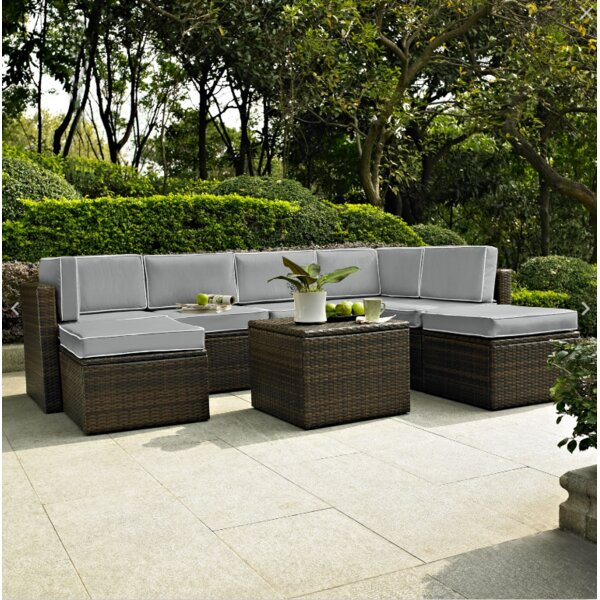 Belton 8 Piece Rattan Sectional Set with Cushions by Mercury Row