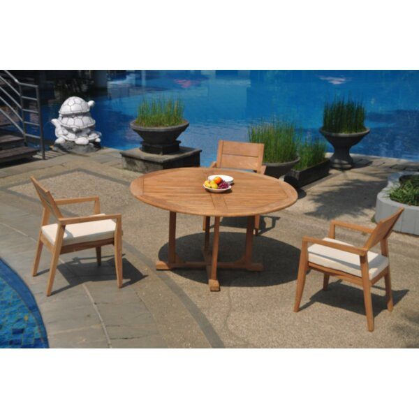 Sadowa 4 Piece Teak Dining Set by Rosecliff Heights