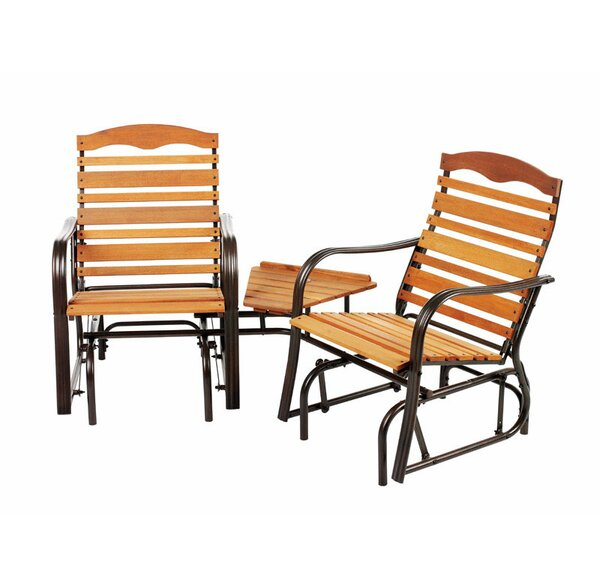 Vance Glider 2 Person Seating Group by Millwood Pines