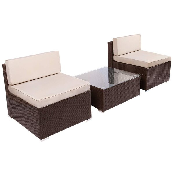 Cullom 3 Piece Seating Group with Cushions by Ebern Designs