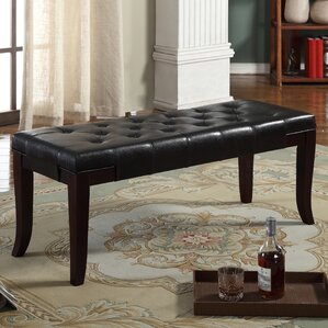 Antonio Leather Bench by Brassex