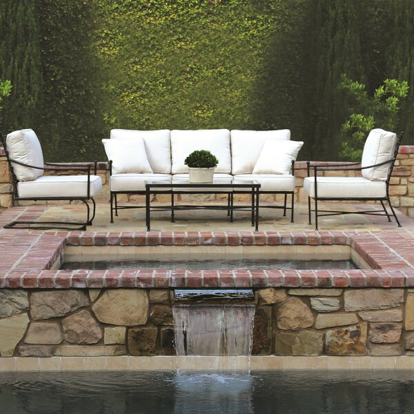 Provence 4 Piece Deep Sunbrella Seating Group with Cushions by Sunset West