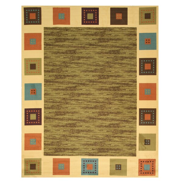 Vera Green/Ivory Area Rug by Threadbind