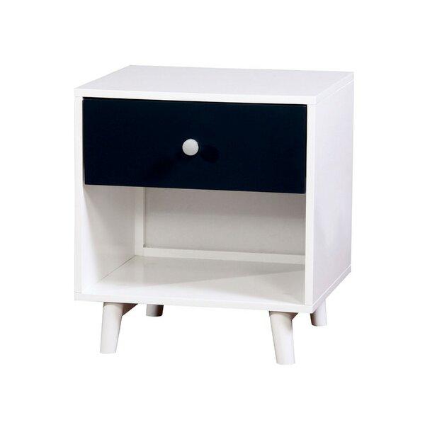 Jersey Wooden 1 Drawer Nightstand by Wrought Studio Wrought Studio