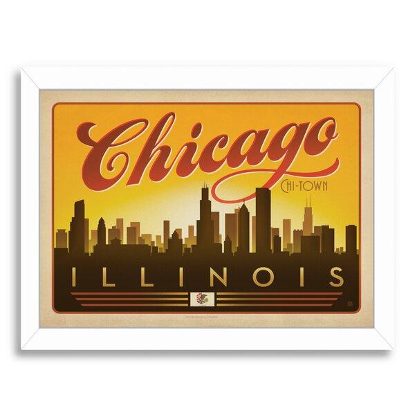 Chicago Skyline Framed Vintage Advertisement by East Urban Home