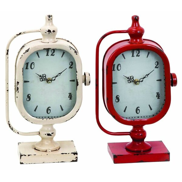 Metal Table Clock (Set of 2) by Cole & Grey