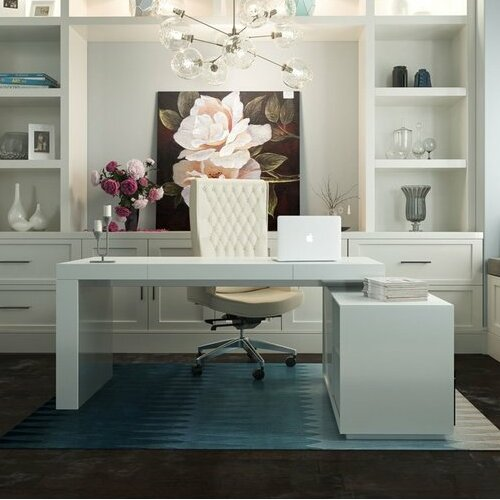 Astounding Camron L Shape Writing Desk By Orren Ellis Home Interior And Landscaping Ologienasavecom