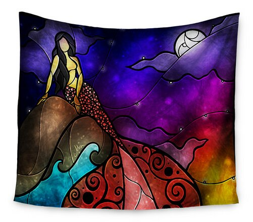 Fairy Tale Mermaid by Mandie Manzano Wall Tapestry by East Urban Home