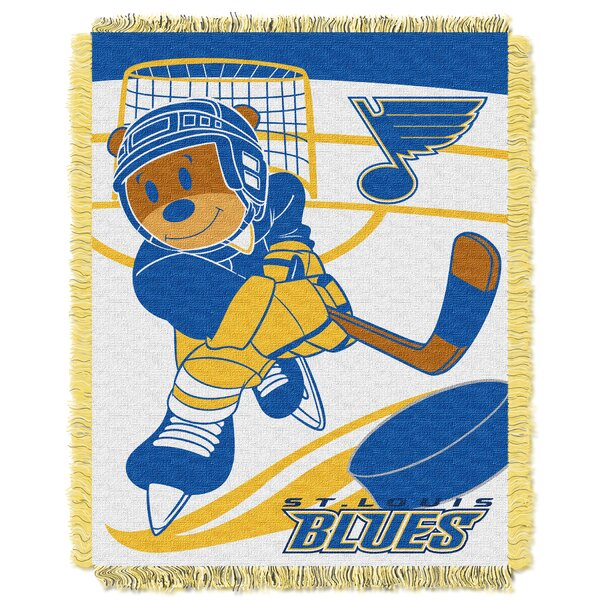 NHL Blues Baby Woven Throw Blanket by Northwest Co.