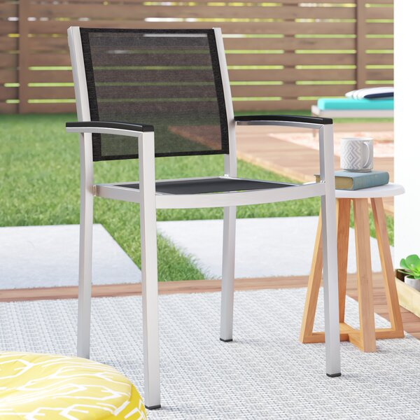 Coline Stacking Patio Dining Chair by Orren Ellis
