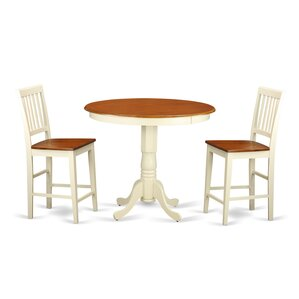 Jackson 3 Piece Counter Height Pub Table Set by Wooden Importers Price