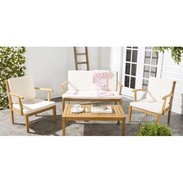 Bradbury 4 Piece Sofa Set with Cushions by Safavieh