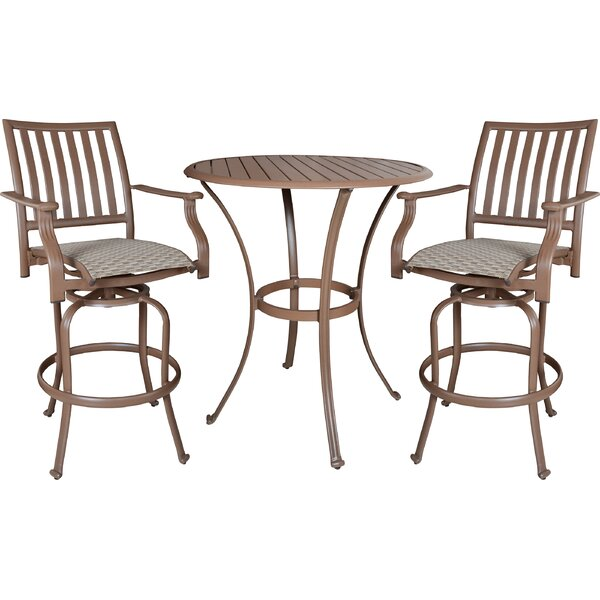 Island Breeze 3 Piece Bar Height Dining Set by Panama Jack Outdoor