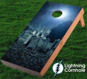 Graveyard Cornhole Board by Lightning Cornhole