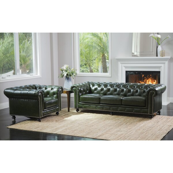 Kilie Virginia Leather 2 Piece Leather Standard Living Room Set by 17 Stories