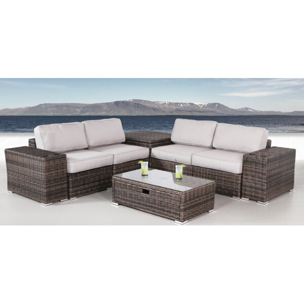 Hortencia 8 Piece Sectional Seating Group with Cushions by Sol 72 Outdoor