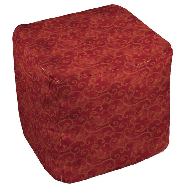 Zinnia Damask Pouf by Manual Woodworkers & Weavers