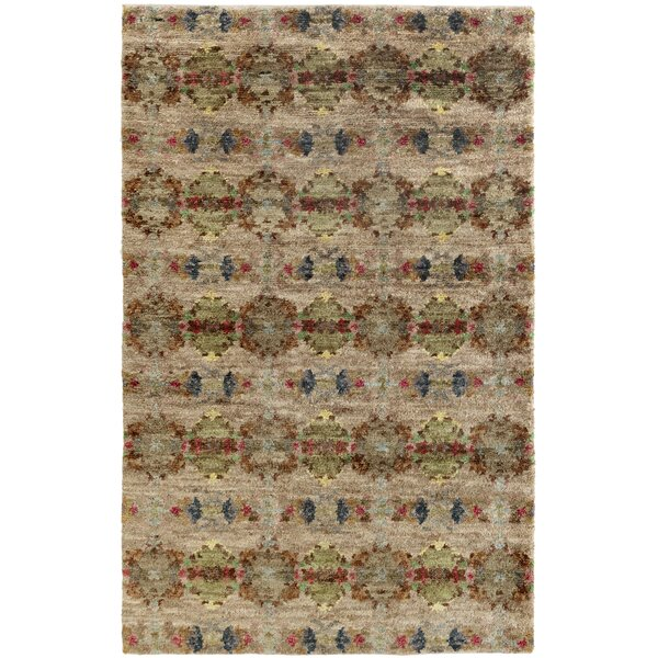 Hickory Hand-Knotted Brown Area Rug