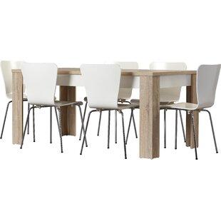 Algedi 7 Piece Dining Set  sc 1 st  AllModern & Modern Metal Dining Room Sets | AllModern
