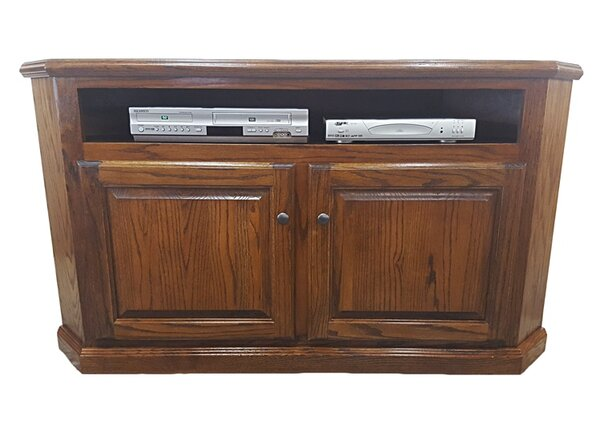 Katrina Solid Wood Corner TV Stand For TVs Up To 65