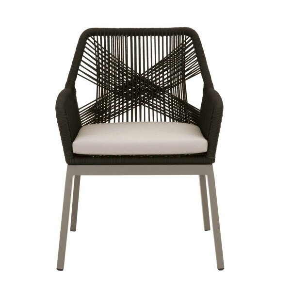 Wayland Loom Patio Dining Chair with Cushion (Set of 2) by Brayden Studio