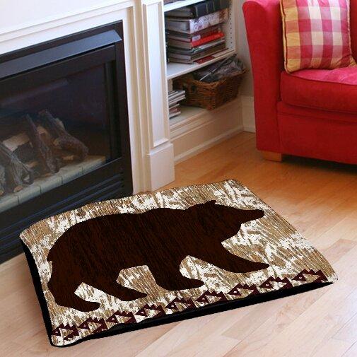 Wilderness Bear Indoor/Outdoor Pet Bed by Manual Woodworkers & Weavers