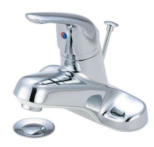 Centerset Bathroom Faucet with Pop-Up Drain by Just Manufacturing
