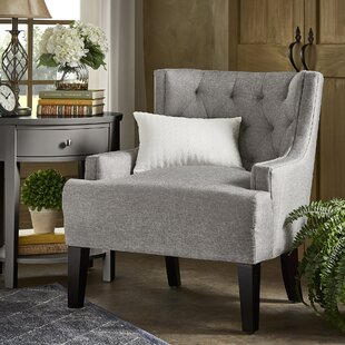 Barwood Tufted Wingback Chair by Three Posts