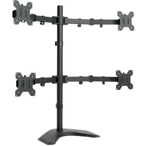 Quad LCD Monitor Free Standing Height Adjustable 4 Screen Desk Mount by Vivo