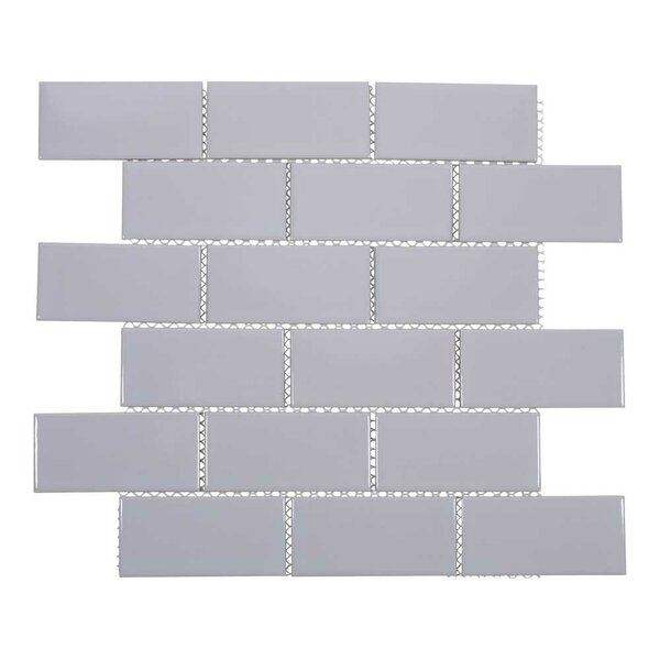 2 x 4 Porcelain Subway Tile in Light Gray by Giorbello