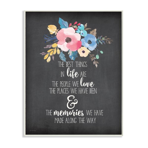 The Best Things in Life Watercolor Floral Textual Art by Stupell Industries