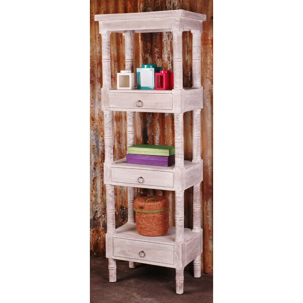 Shabby Elegance Cottage 71.25 W x 24 W Wood Shelving Unit by Sunset Trading