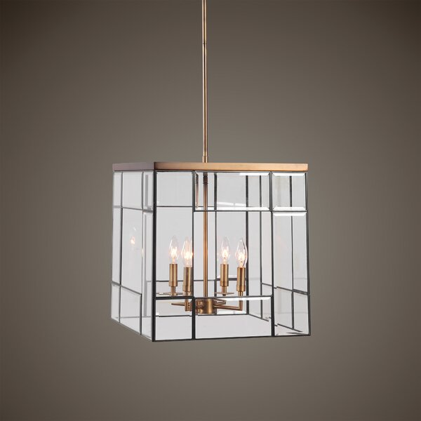 Nardi 4 - Light Candle Style Rectangle / Square Chandelier by Wrought Studio Wrought Studio