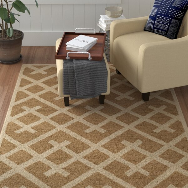 Wycoff Hand-Tufted Taupe/Beige Area Rug by Winston Porter
