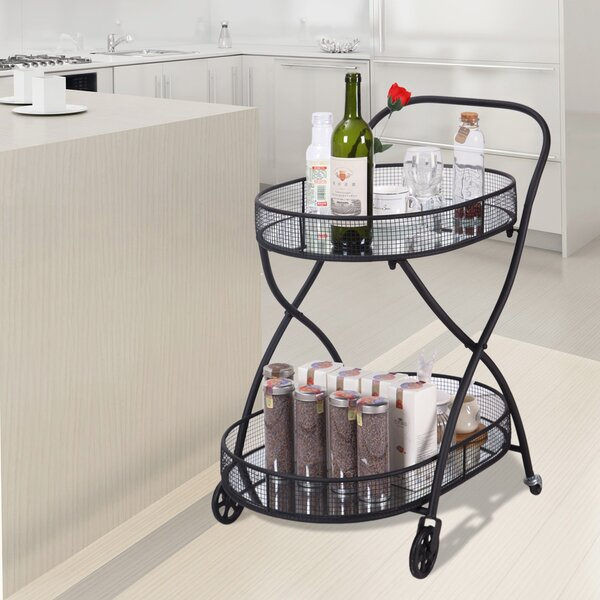 Tyra Kitchen Serving Bar Cart by Gracie Oaks