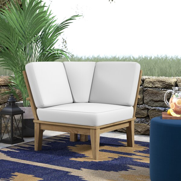 Elaina Teak Patio Chair with Cushions by Beachcrest Home