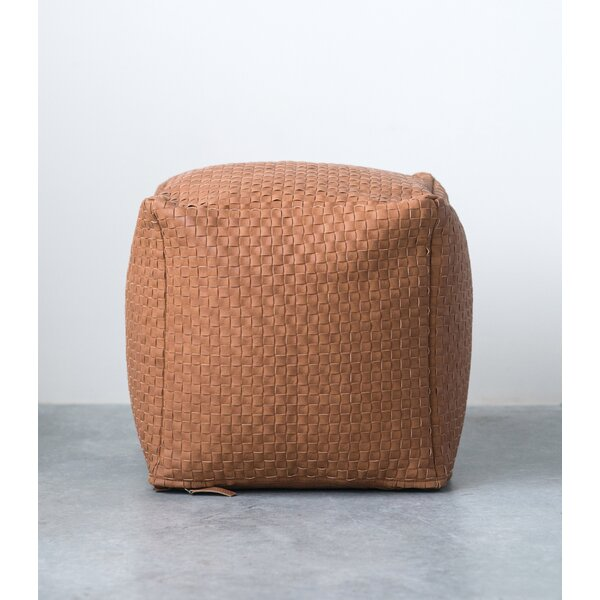 Neida Square Woven Pouf by Union Rustic