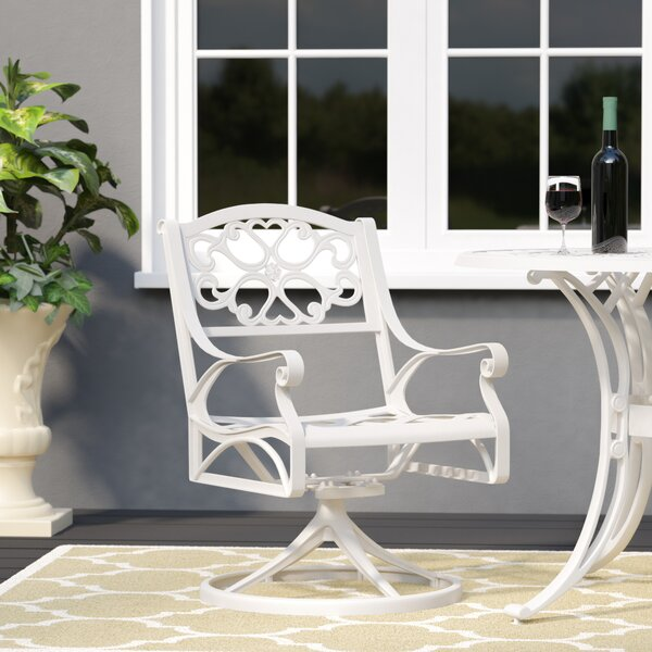 Van Glider Swivel Patio Dining Chair by Astoria Grand