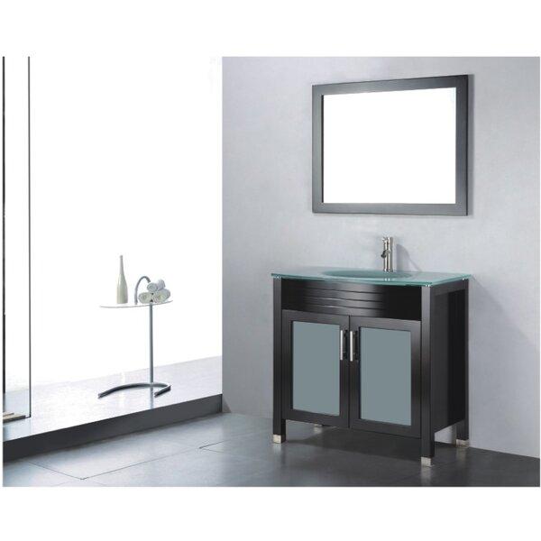 Adora 36 Single Bathroom Vanity Set with Mirror by Adornus