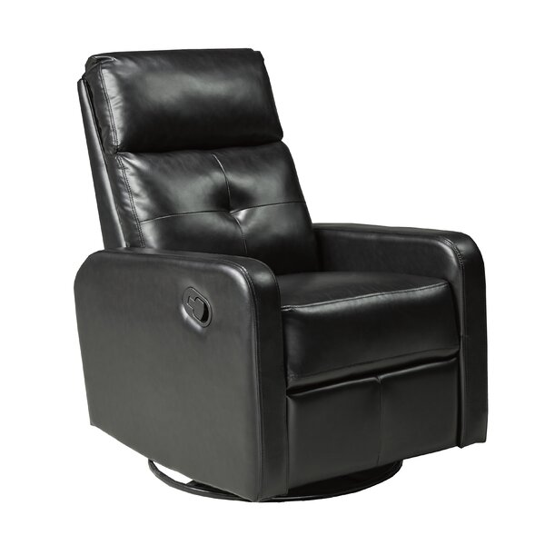 Hyndi Manual Recline Rocker Recliner with Swivel by Orren Ellis