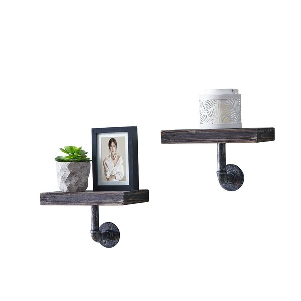 Mount Barker Pipe Floating Shelf (Set of 2) by Wil